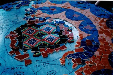 glass mosaic pattern maker pick up the pieces from broken glass to a sumptuous