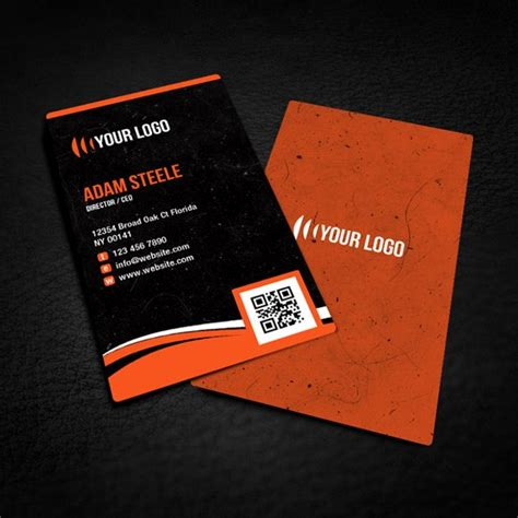 rounded business card template 100 free psd business card templates