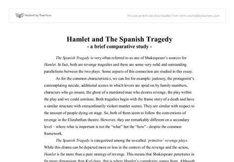Critical Analysis Of Hamlet At by Hamlet And The Tragedy A Brief Comparative Study Linguistics Classics
