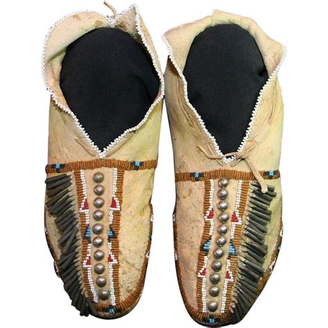 beaded moccasins american osage s beaded moccasins from