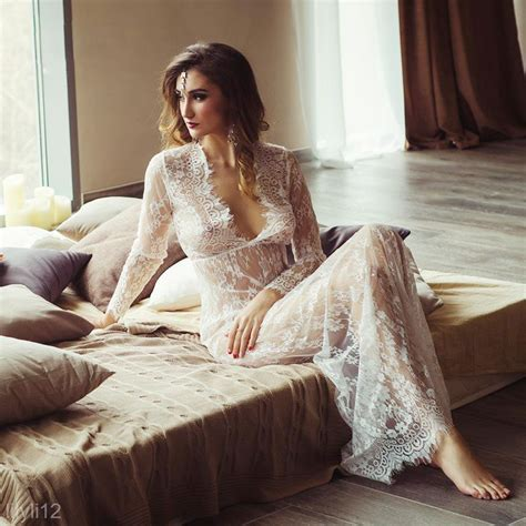 Dress Cewek Wanita Maxi Seethru Dress Black floor length black white lace dress see through maxi dress plus size ebay