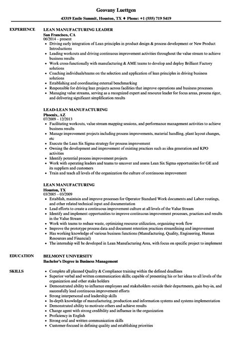Manufacturing Skills For Resume