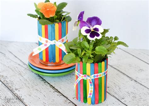 flower pot craft for craft stick flower pots typically simple