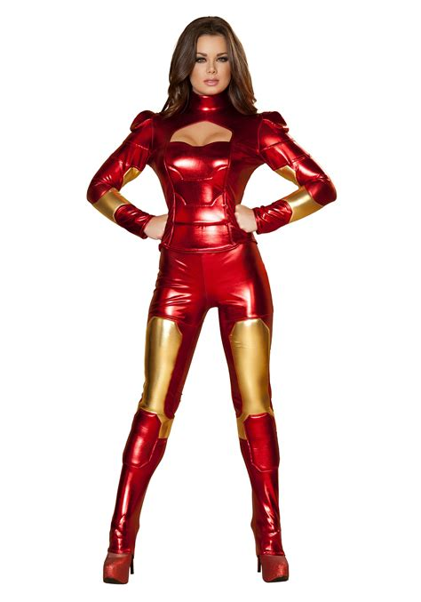 superhero halloween costumes for girls womens hot metal superhero costume