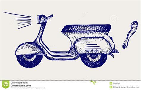 doodle vespa vespa vintage imagen de archivo imagen 28588341