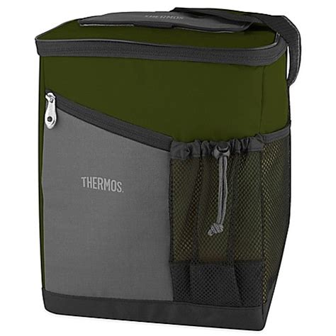 bed bath and beyond thermos thermos 174 insulated soft sided cooler in green bed bath