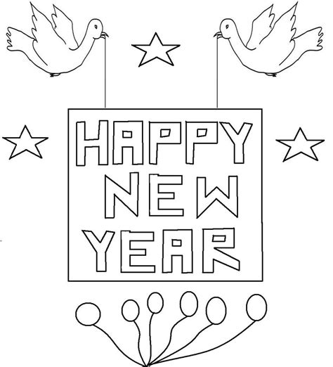 free new years coloring pages printable free printable new years coloring pages for