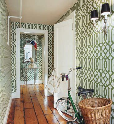 Green Wallpaper Hallway | several helpful suggestions when looking the perfect