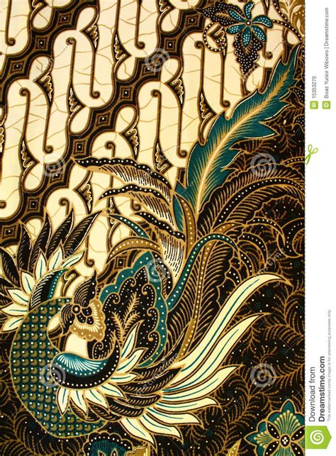 Dress Vintage Motif Print Burung batik pattern indonesia stock photo image of