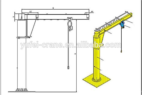 jib crane design column jib cranebzz fixed type jib boom crane slewing jib