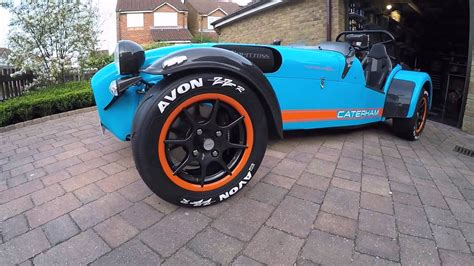 caterham  spoke alloy wheels fitted  avon zzr tyres