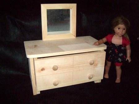 18 Doll Dresser by Custom 18 Quot Doll Dresser With Mirror By Pine Grove Woodshop Custommade