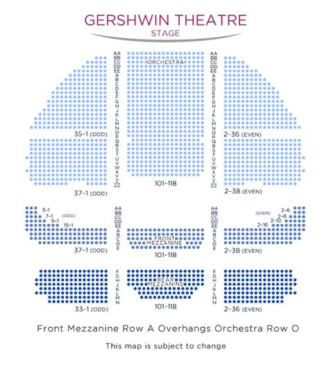 gershwin theater seating gershwin theatre seating plan brokeasshome