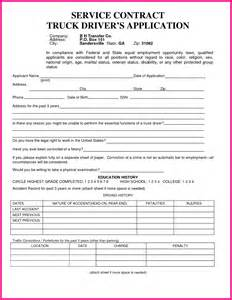 truck driver application template 13 truck driver application form