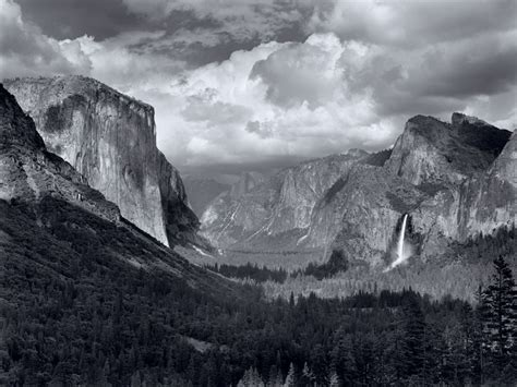 ansel adams in the yosemite valley thunderstorm by ansel adams