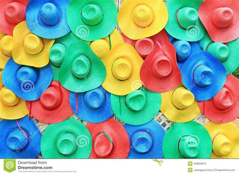 colorful hats colorful hats background stock image image of wicker