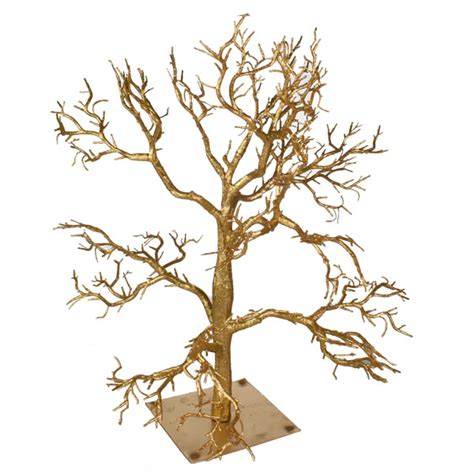 glittered gold branch twig tree 55cm party decorations
