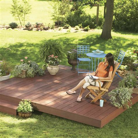 backyard decks build  island deck family handyman