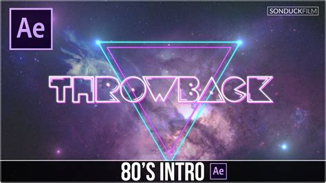 tutorial intro after effects after effects tutorial 80 s style intro basics sonduckfilm