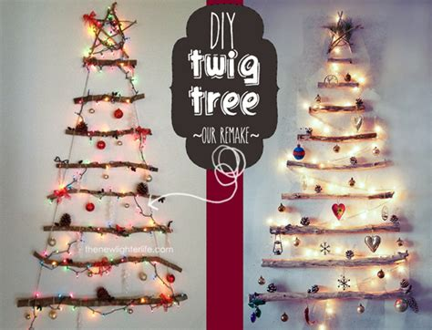 how to diy a twig christmas tree