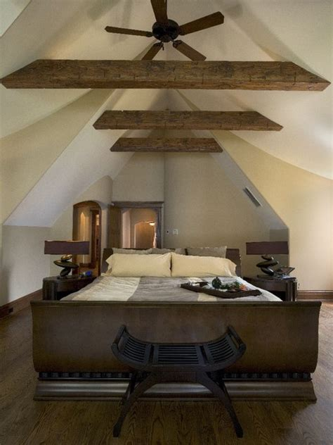 bedroom ties master bedroom with cathedral ceiling and rustic fir collar ties rustic bedroom