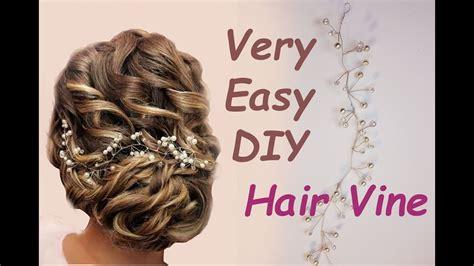 easy diy bridal hair vine headpiece tiara boho tutorial tocado para el cabello