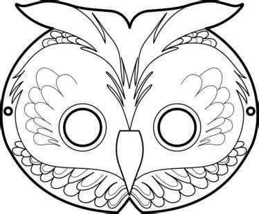 printable owl face mask free printable masks the owl masque de hibou diy owls
