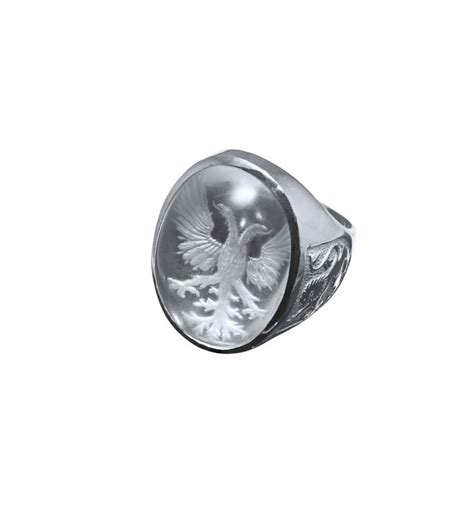 ring sub engraved s heraldic silver ring