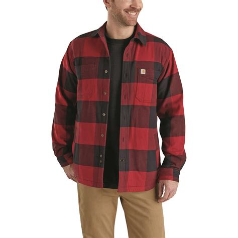 carhartt rugged flex hamilton shirt carhartt s rugged flex hamilton fleece lined shirt