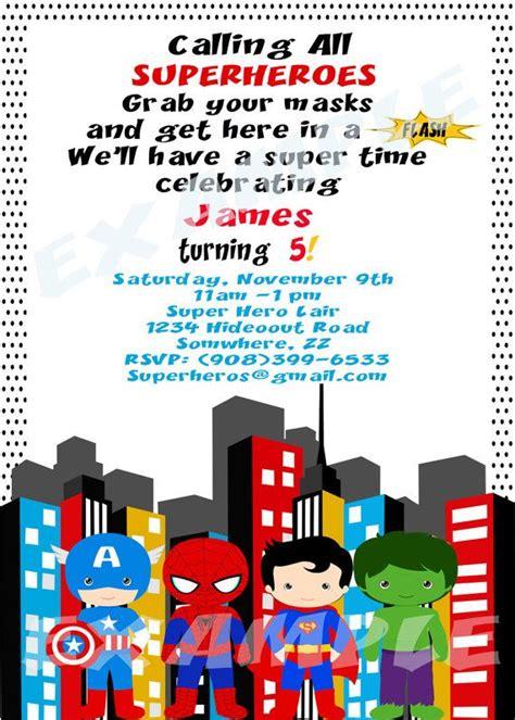 printable superhero stationery superhero birthday party invitation printable by