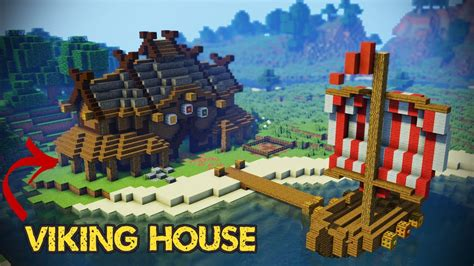 how to make a viking boat in minecraft minecraft viking house tutorial youtube