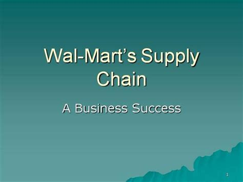 2 wal mart supply chain authorstream