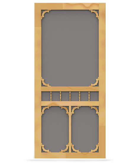 Which Is Better Vinyl Or Aluminum Screen Door - colonial wood screen door screen tight wood and solid