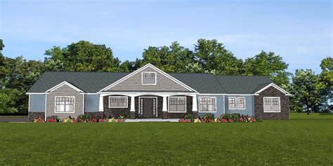 custom home house plan 2 470 sf ranch w basement 3 car
