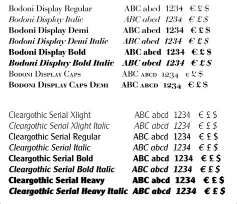 typography family infinitype offer