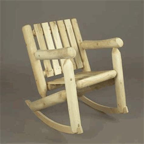 rustic rocking chair kit cedar log style low back rocking chair