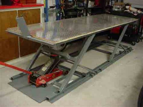 Build Your Own Motorcycle Lift Table One Way