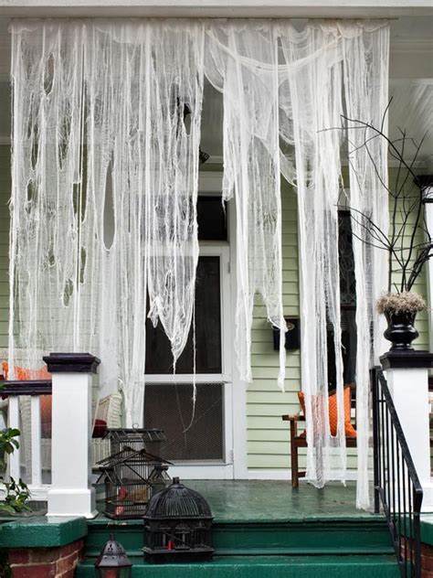 outdoor ghost house decoration