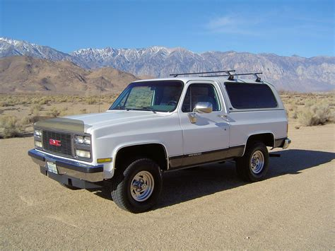 gmc jimmy 1989 1989 gmc jimmy 4x4 california truck removable top no rust