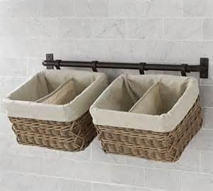 Wall Storage With Baskets Hannah Wall Basket Small Storage System With 1 Basket