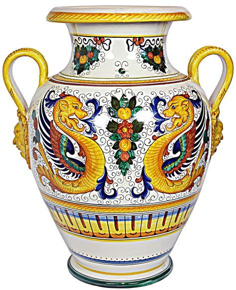 Vases From Italy by Deruta Italian Urn Vase