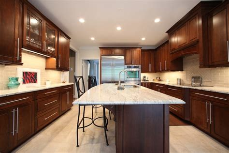 luxury kitchen remodel with marble countertops stainless