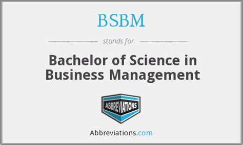 bsbm bachelor of science in business management