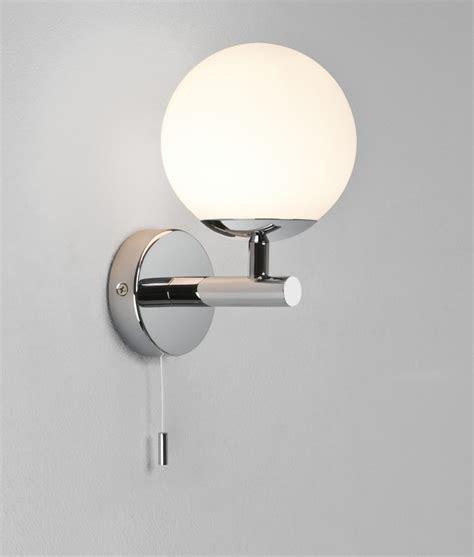 Globe Bathroom Light Glass Globe Bathroom Wall Light