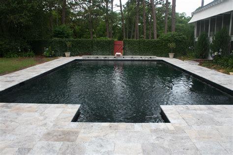 silver travertine tumbled edge pool coping travertine