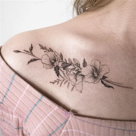 rose collar bone tattoo best 25 neck ideas on