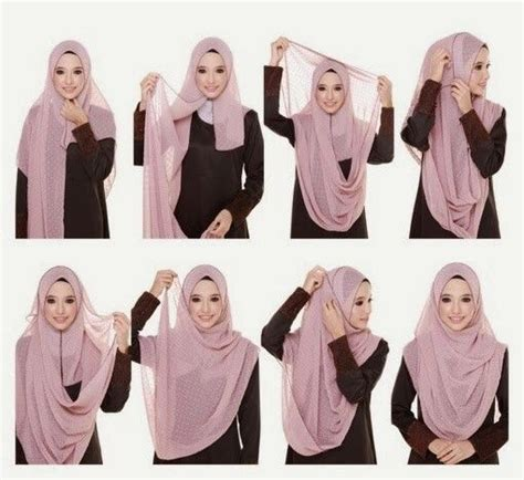 tutorial hijab pashmina model syar i tutorial hijab syar i hijab tutorial pinterest
