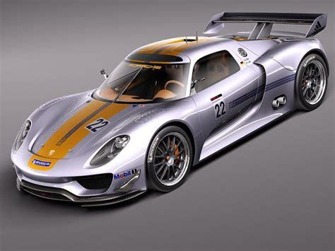 porsche 918 racing porsche 918 rsr 2012 3d model max obj 3ds fbx c4d