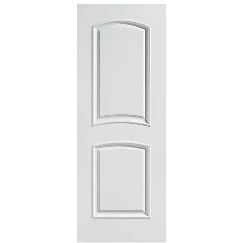 Arch Top Interior Doors Masonite 28 In X 80 In Palazzo Bellagio Smooth 2 Panel Arch Top Solid Primed Composite