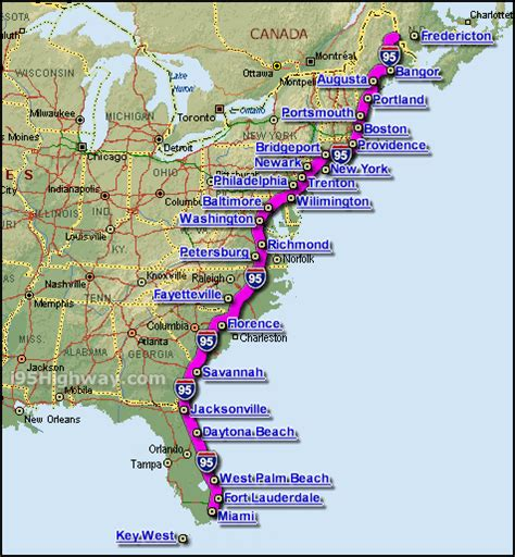 us map east coast cities as my adventure unfolds january 2011